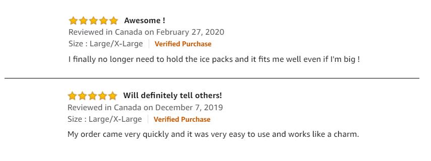 SimplyJnJ Ice Gel Wrap - Amazon Reviews