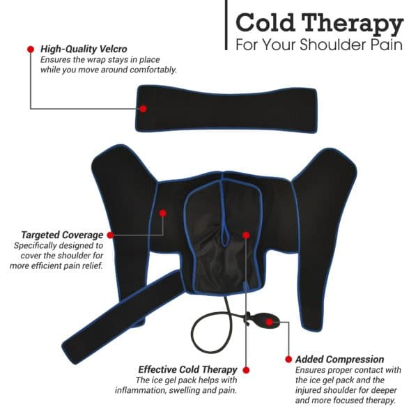 Shoulder Cold Therapy Wrap With Compression & Bonus Ice Pack