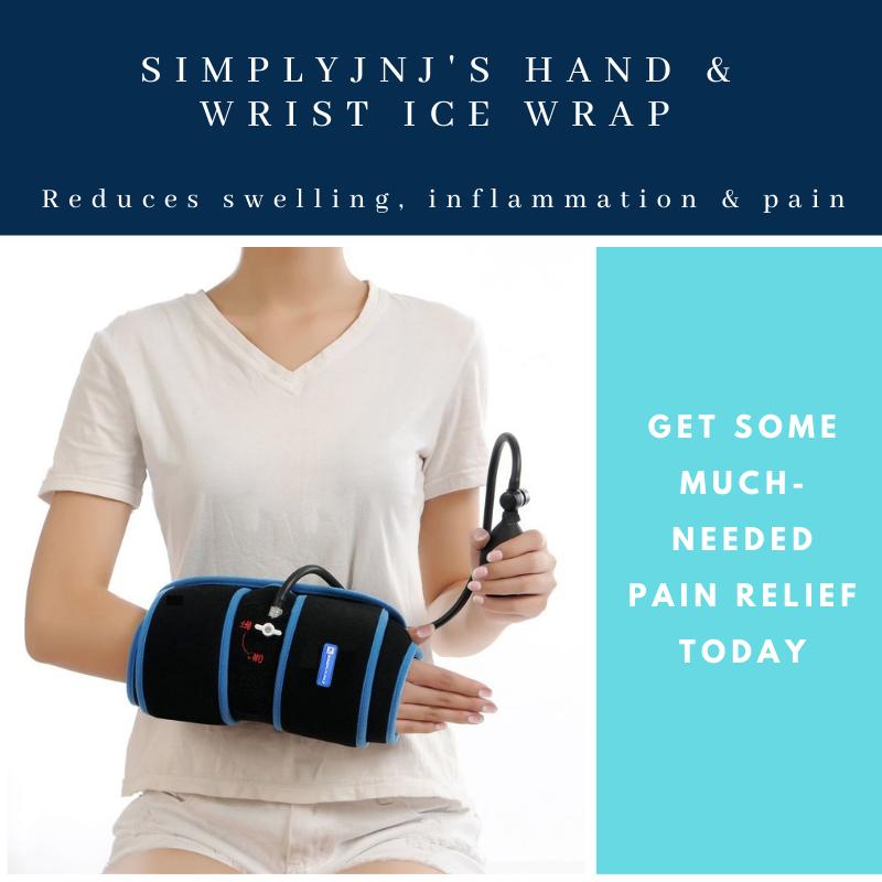 SimplyJnJ Wrist Ice Wrap With Compression