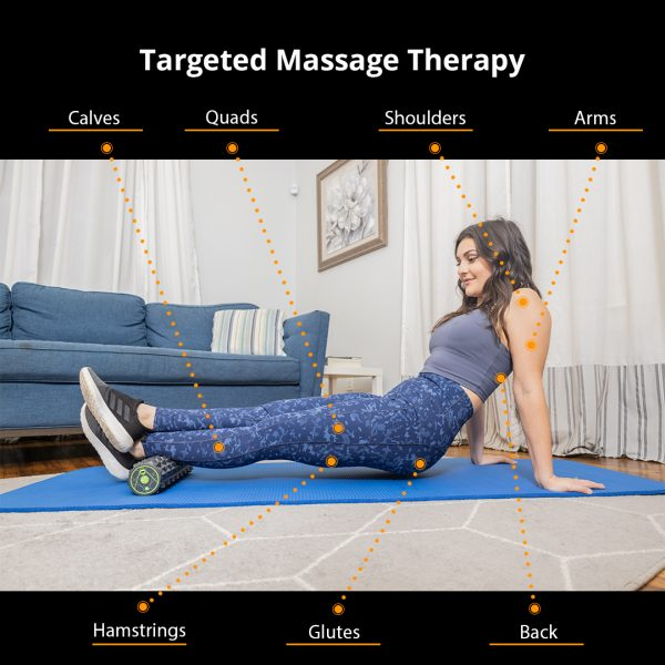 SimplyJnJ Vibrating Foam Roller - 4 Speed Massager with Remote Control - Great for Sore Muscles, Deep Tissue Massage, Trigger Point, Physical Therapy